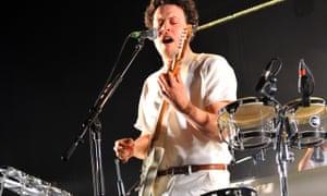 Joseph Mount of Metronomy performs at the Brixton Academy.