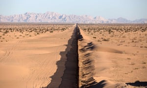 A section of the US border fence in northwestern Mexico.