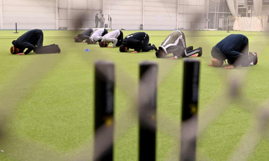 Prayers first, cricket next at the Ramadan Cricket League.
