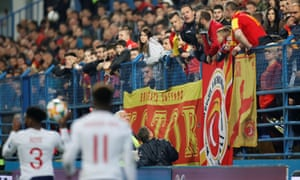 Montenegro supporters taunt England players