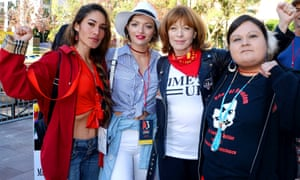 Q'orianka Kilcher, Francesca Eastwood and Frances Fisher.