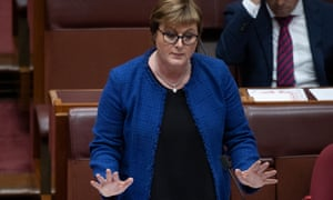 Coalition minister Linda Reynolds during question time in the Senate