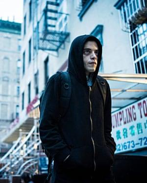 Rami Malek as Elliot Alderson in Mr Robot