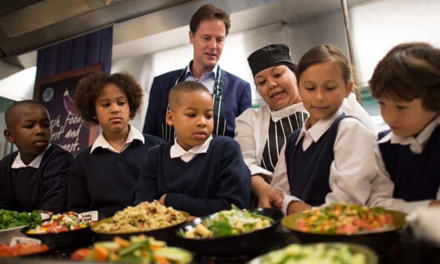Free school meals ... the scheme was the result of a trade-off with George Osborne's plan to cut tax for married couples. Photograph: Stefan Rousseau/PA