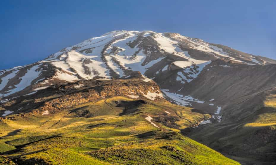 Mount Damavand, highest peak in Iran.