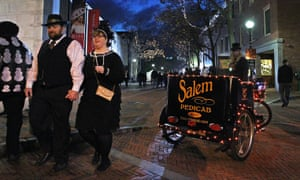 Halloween evening in downtown Salem.