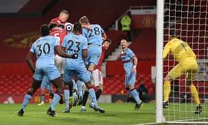 Craig Dawson of West Ham United scores an own goal.