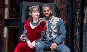 'She's a shapeshifter': Tara Fitzgerald as Lady Macbeth and Ray Fearon as Macbeth at the Globe theatre in 2018.