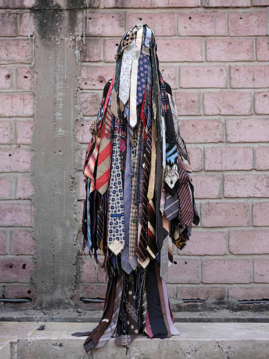Gires Kanda GK's creation is made from old ties.
