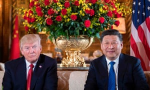 Trump with Chinese president Xi Jinping in Florida in April.