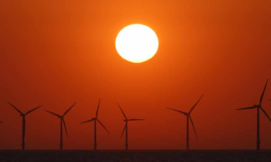 The Burbo Bank windfarm off Wallasey, Merseyside.