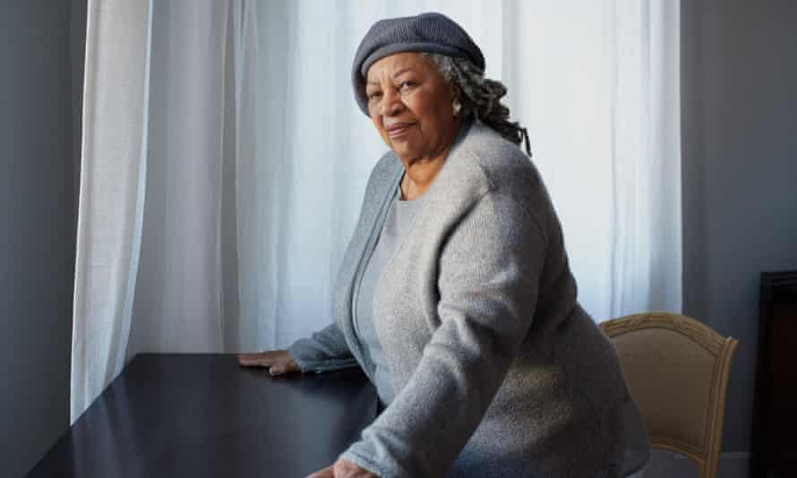 Toni Morrison, in her New York apartment