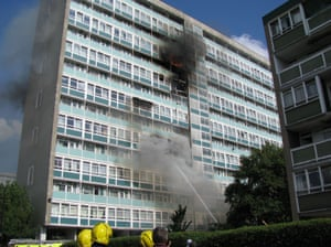 The fire in Lakanal House in south London, 2009.