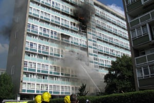 The Lakanal House fire in July 2009.