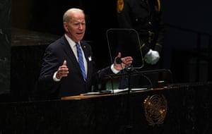 New York, US Joe Biden addresses the UN General Assembly