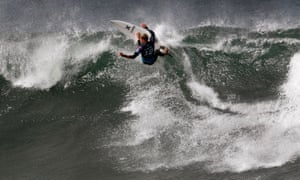 Hawaii's John John Florence surfs during the heats of the Rip Curl Pro at Bells Beach on Friday.