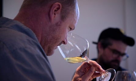 Kirk Venge, a winemaker in Napa, is having to use wine from previous years to cover for grapes lost to smoke taint in 2020.