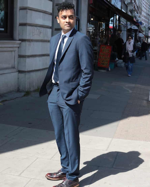 H&M's rental suit service: suit is modelled by Priya Elan.