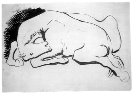 A drawing of a horse by Picasso.