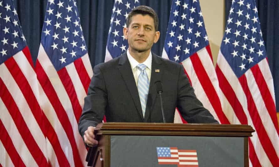 House Speaker Paul Ryan gives his speech.