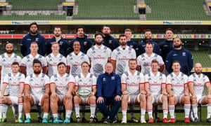 The USA pose for a team photo in Dublin.