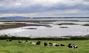 The view across Strangford Lough towards the Mourne Mountains, Northern Ireland.