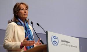 French environment minister, Ségolène Royal, at this week's UN climate talks in Bonn.