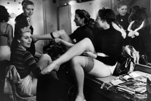 Dressing Room, 1951. Members of a Bluebell Girls dance troupe at the Nuevo Teatro, Milan