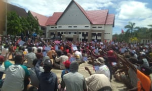 Protest in Sorong, West Papua