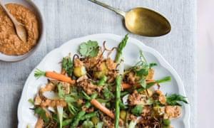 Warm Indonesian peanut salad