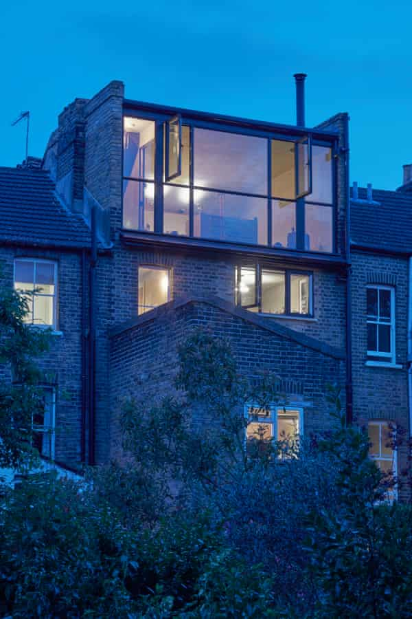 View from the outside of the converted attic in south London.