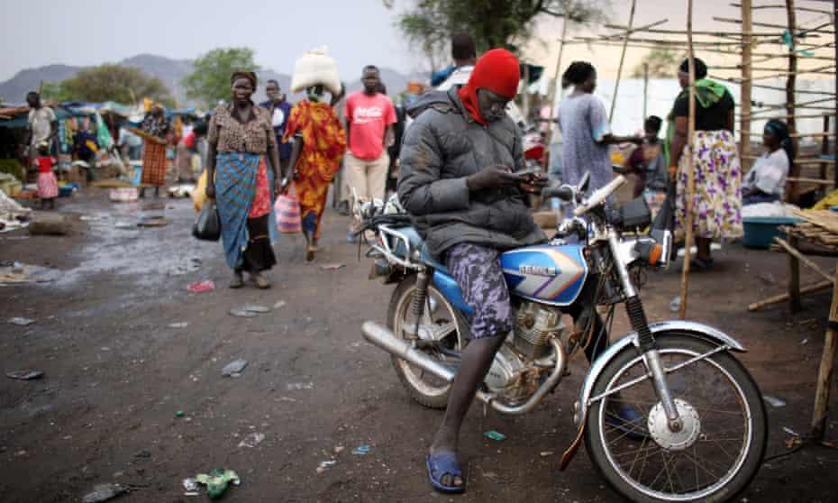 The market in Juba