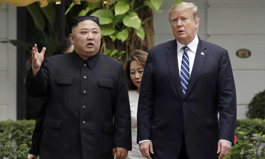 Donald Trump and Kim Jong-un in Hanoi, Vietna, on 28 February.