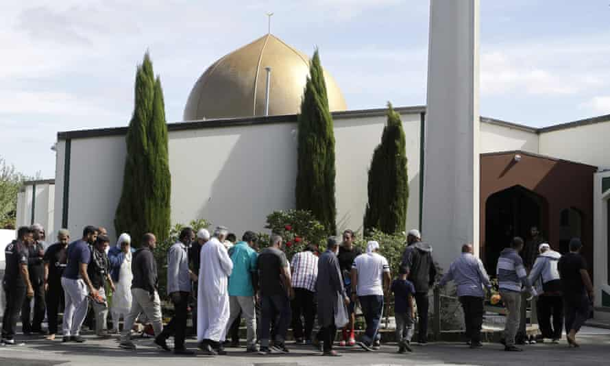 Worshippers attend al Noor mosque, the week before shootings by a white supremacist in March 2019. The inquiry found police had failed to enforce proper firearms license checks.