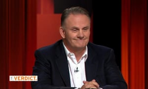 Screenshot of Mark Latham during his appearance on Channel Nine TV show The Verdict on Thursday 15 October 2015 in Australia