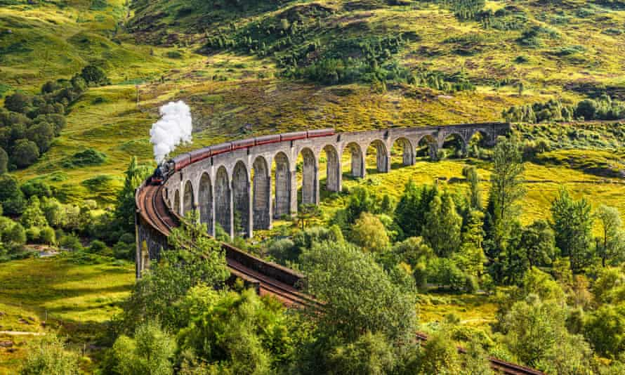 'I'd prefer a Cauldron Cake from the witchy food trolley than anything an ordinary buffet car has to offer' … Hogwarts this way. (Glenfinnan Railway Viaduct in Scotland)
