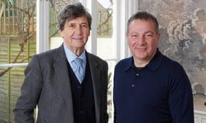 Melvin Bragg, left, with Line of Duty writer Jed Mercurio, who is the subject of the first episode of The South Bank Show.
