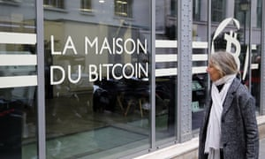 """The offices of the bank """"La Maison du Bitcoin"""" in Paris this week."""