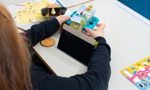 Child playing with Nintendo Labo