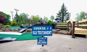 The Bible-themed minigolf course at Lexington, Kentucky.