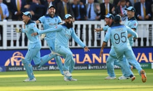 Moeen Ali (centre) on the winning moment: 'People were just running off in all directions. It was a bit of a blur to be honest.'
