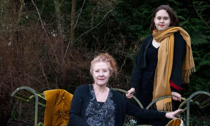 Love is… Peggy (left) and Lucy Reynolds at home in Gloucestershire.