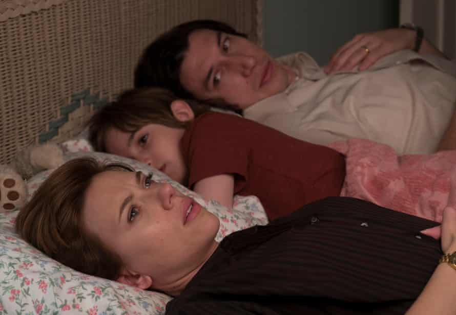 Heartbreaker … Scarlett Johansson, Azhy Robertson and Adam Driver