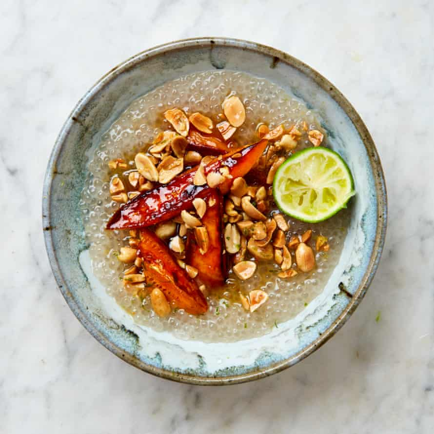 Yotam Ottolenghi's tapioca, coconut and sweet potato bowl.