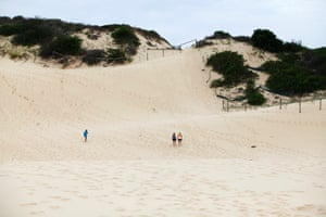 The sand dunes in Cronulla