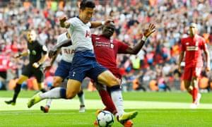 Tottenham's Son Heung-min and Liverpool's Sadio Mané.