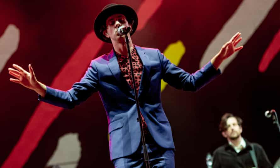 Paul Smith of Maxïmo Park performs in Newcastle