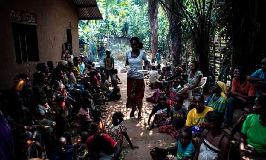 Food rations at a camp