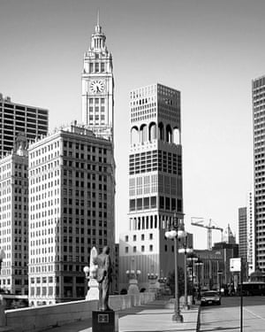 The Chicago Pasticcio: Sam Jacob's 2017 entry fuses Adolf Loos' unbuilt 1922 proposal with the actual Tribune Tower on Michigan Avenue.