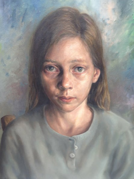 The painting of Berger's granddaughter, Melina, 13, by Jules Linglin